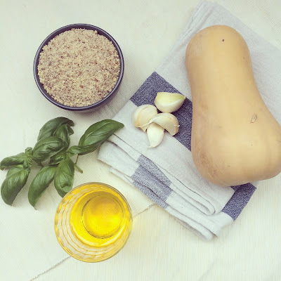 pesto courge amandes parmesan basilic
