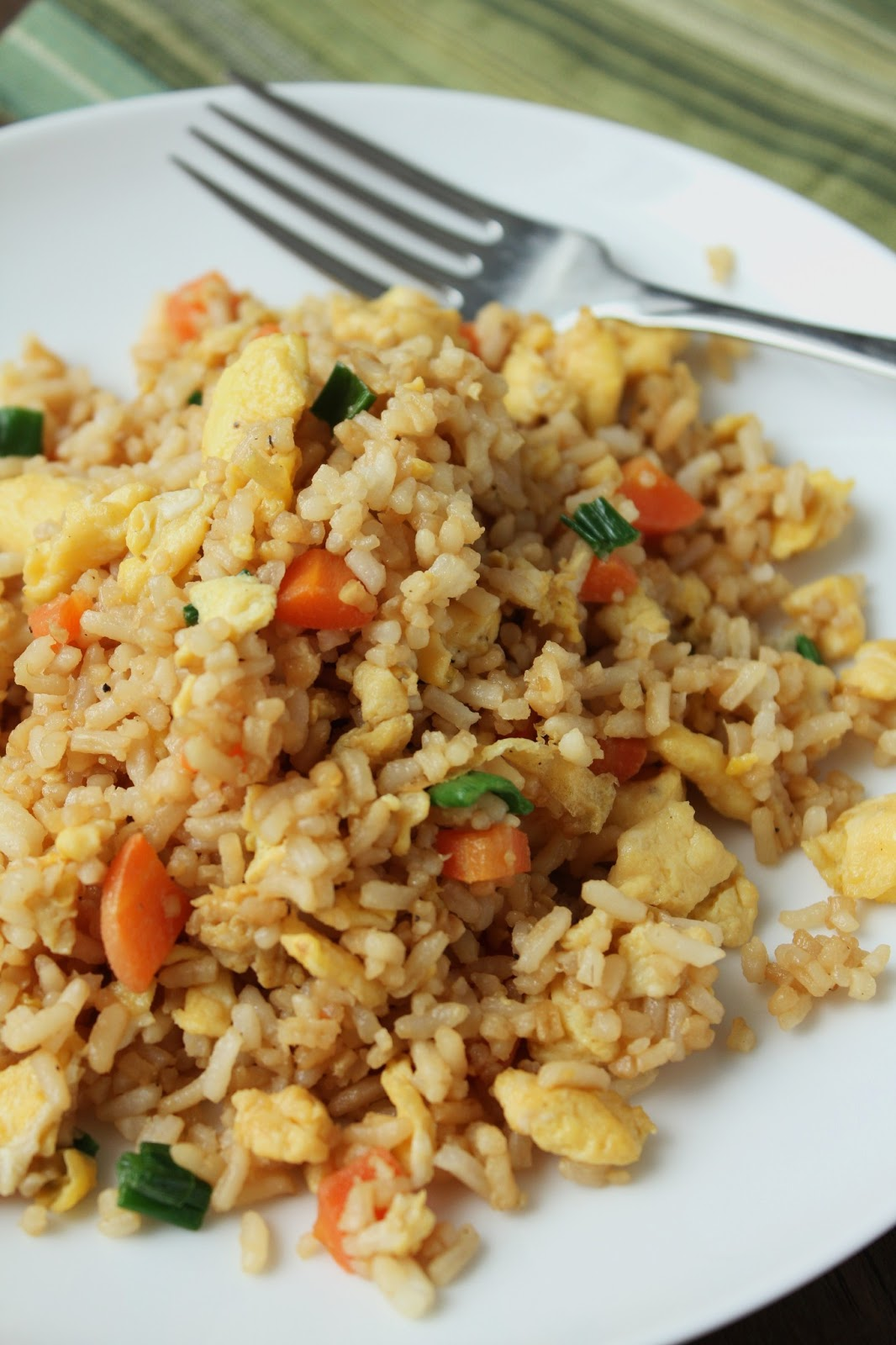 Chinese fried rice, carrots, green onions, eggs, gluten-free, low ...