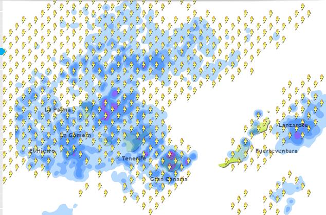 fuertes lluvias Canarias, sábado 24 octubre