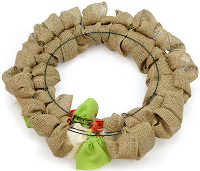 Back view of the burlap ribbon wreath | MardiGrasOutlet.com