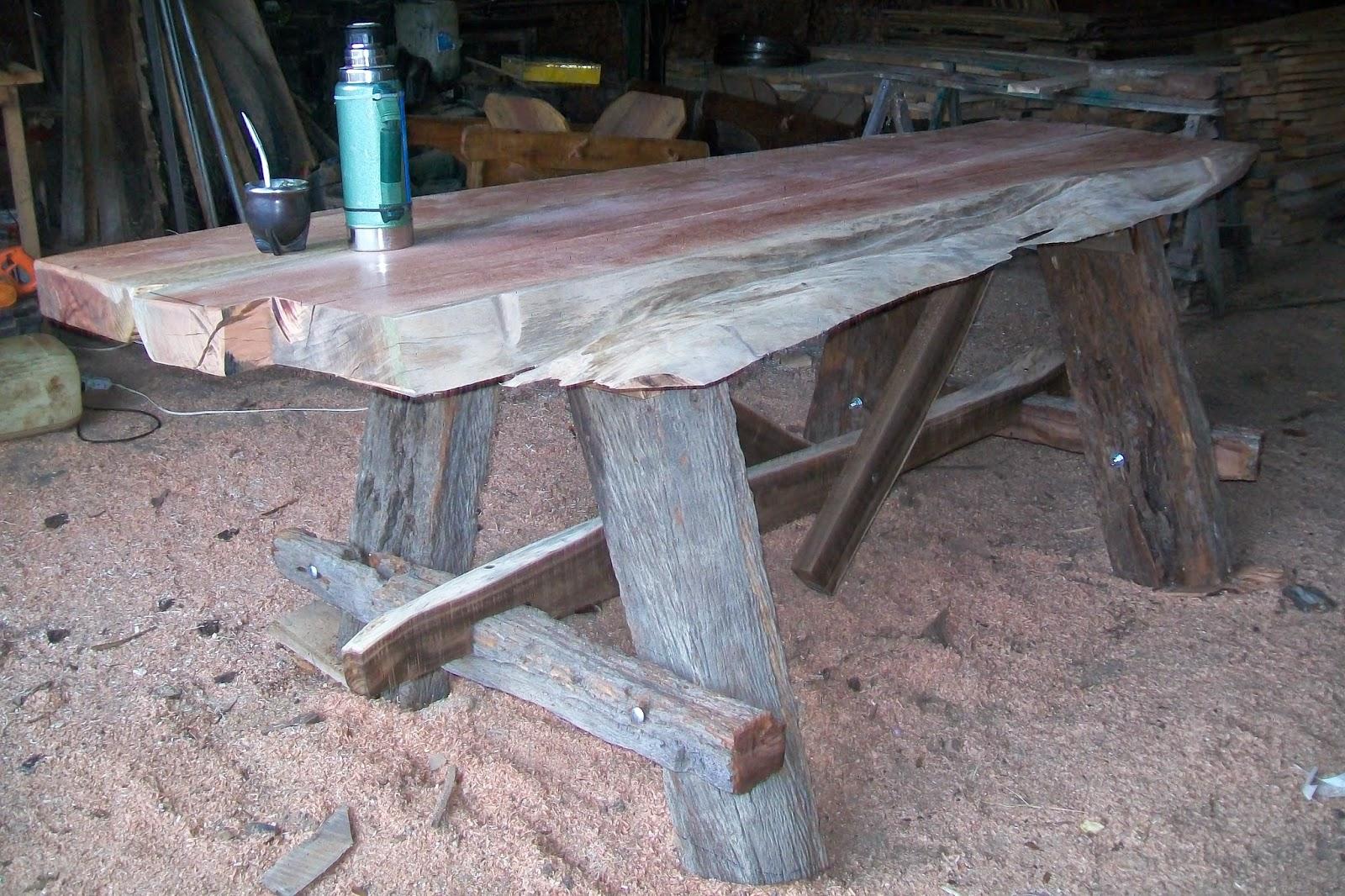 Carpinteria rural agromaderas el galpon de dario garaza l pez mesas rusticas para la barbacoa - Mesa para barbacoa ...