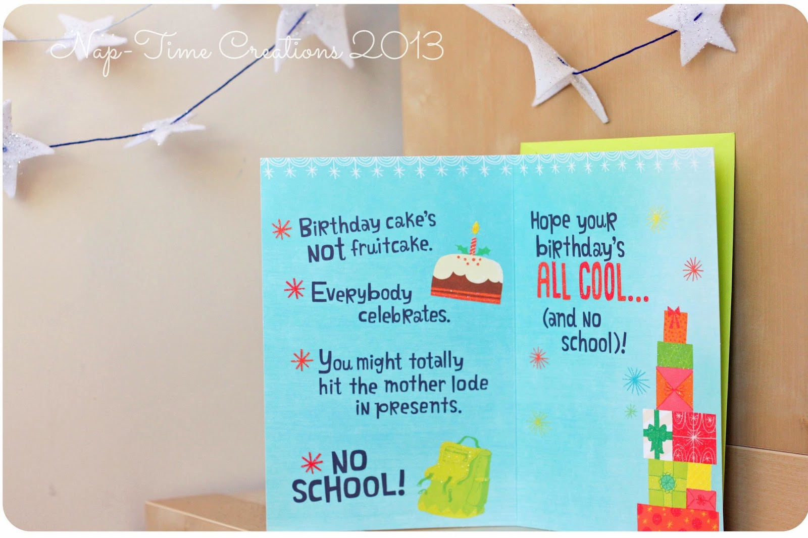 Holiday birthday wishes from hallmark life sew savory m4hsunfo