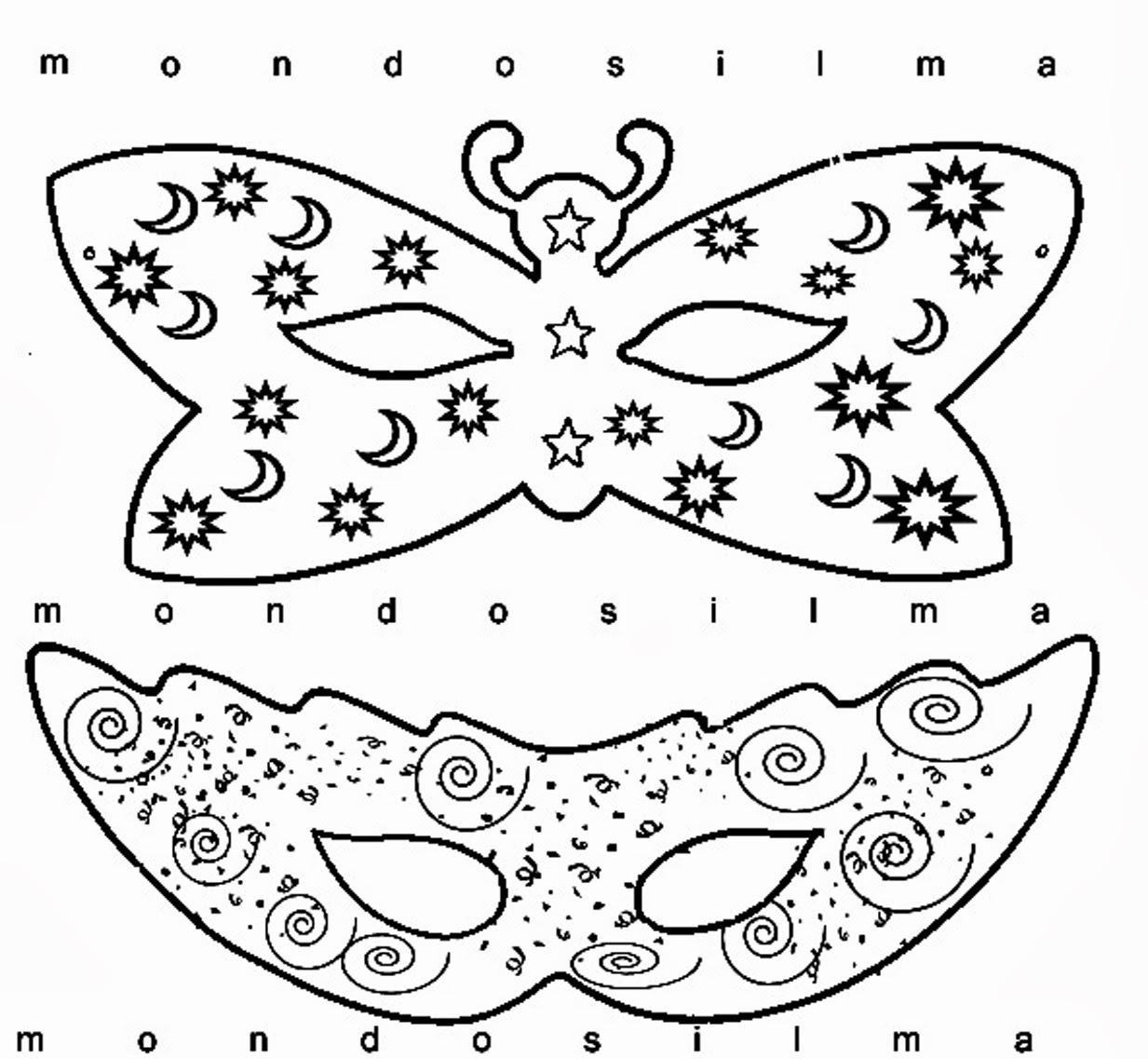 Disegni carnevale da colorare for Disegni da colorare e stampare carnevale