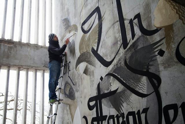 Street Art By Fikos Antonios and Simon Silaidis in the abandoned Sanatorium of mount Parnitha - Athens, Greece.3