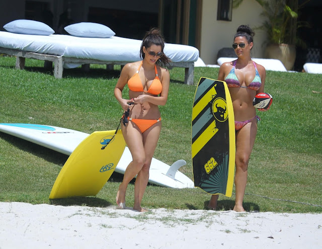 kim kardashian Swim Wear in Beach