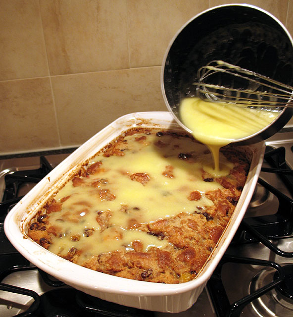 ... Friday....Grandma's Old-Fashioned Bread Pudding and Vanilla Sauce