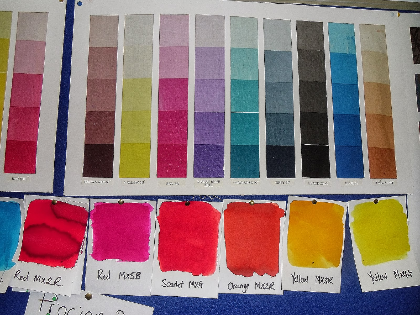 Naomi peaces textiles pigment printing procion dyes and brusho colour chart for pigment ink and procion dyes nvjuhfo Images