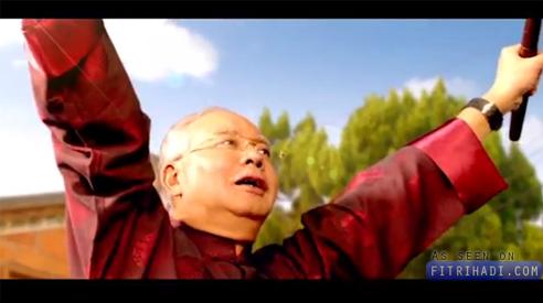 Video Iklan Tahun Baru Cina Najib Razak Main Drum