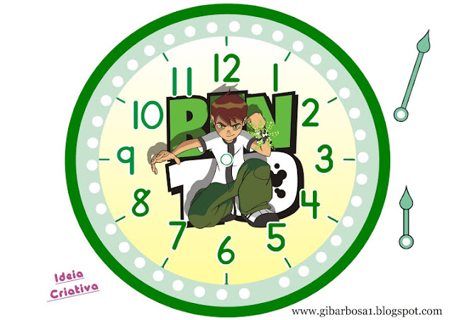 Relógio de parede  Ben 10 para imprimir