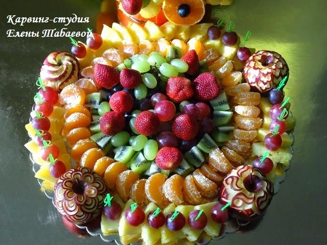 раскладка фруктов