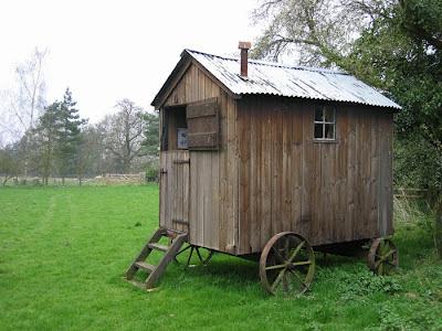 Relaxshacks.Com: A Sheep Wagon/Caravan Home In A Field- Tiny House