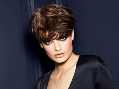cortes de pelo corto con flequillo