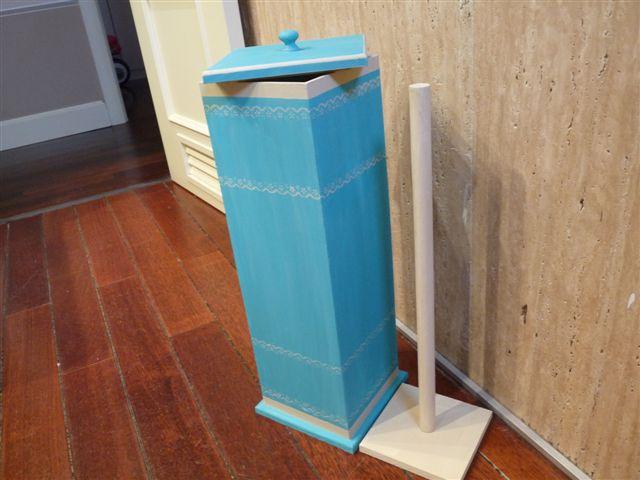 El taller de cayetana mueble auxilar para rollos papel de - Rollos adhesivos para muebles ...