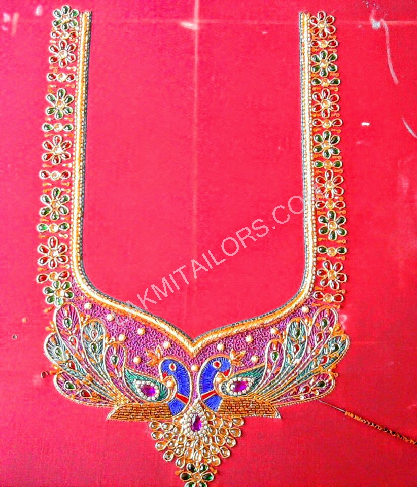 Fashions Readymade Embroidered Blouse Neck Design Patch