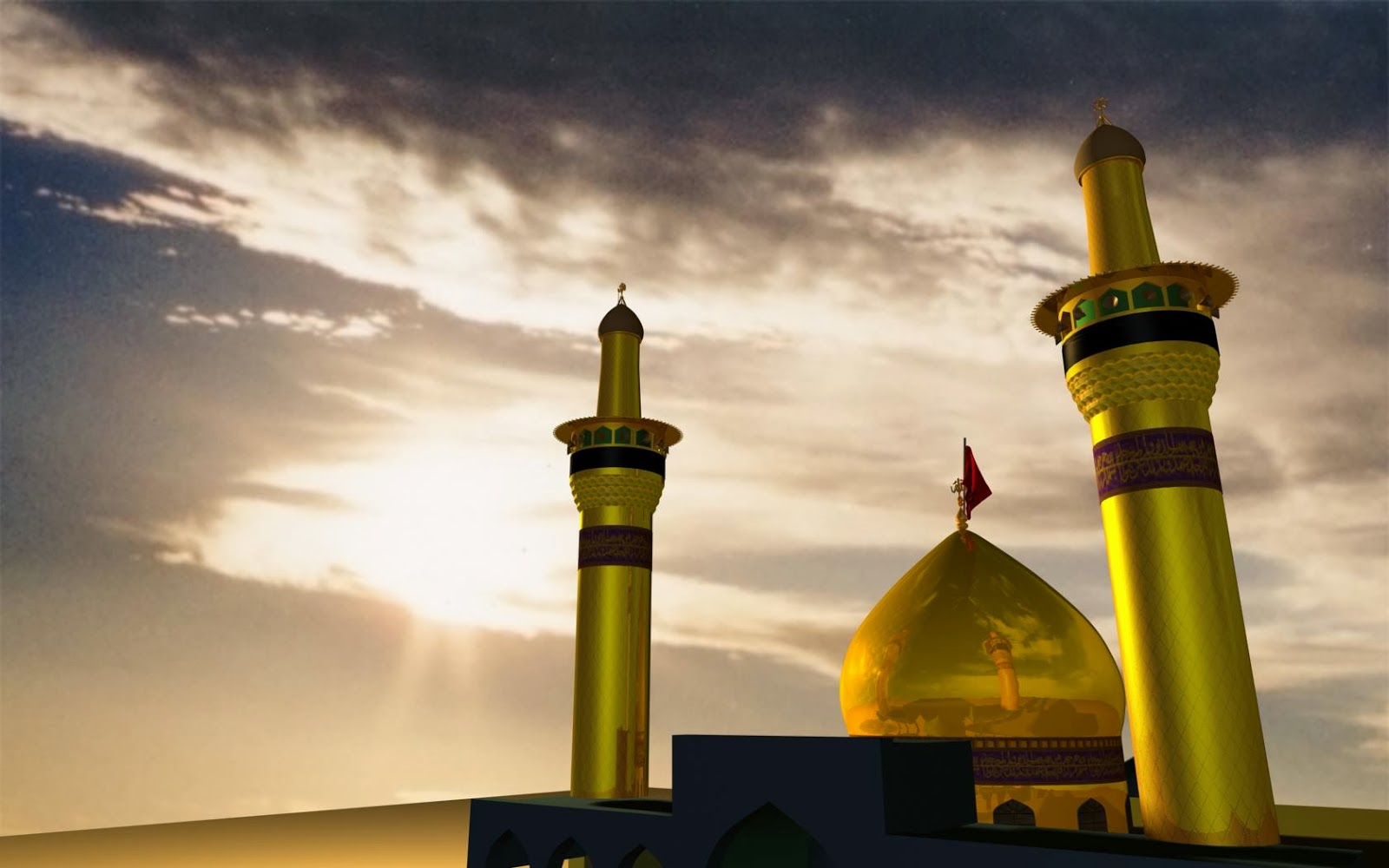 Hd wallpaper ya hussain - Animated Hd Wallpaper Of Shrine Of Imam Hussain A S