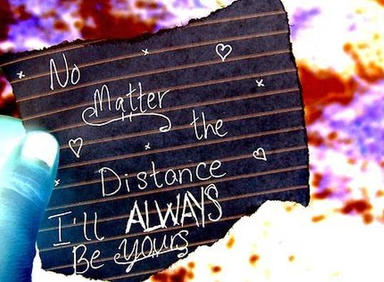Distance love message