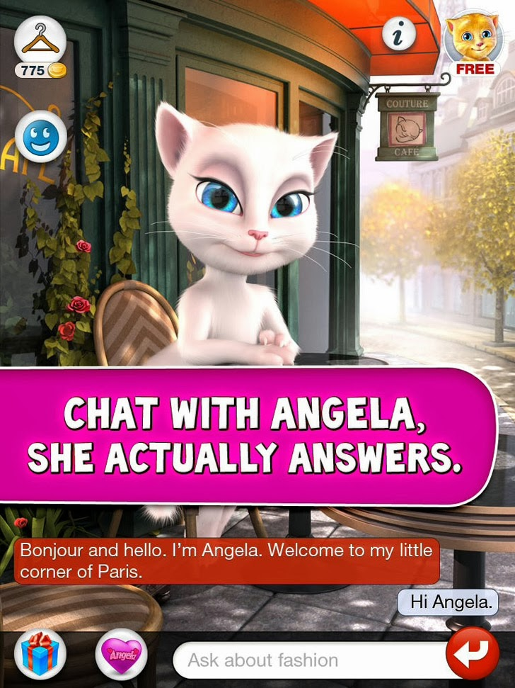 talking angela app itunes app by out fit 7 ltd freeapps ws