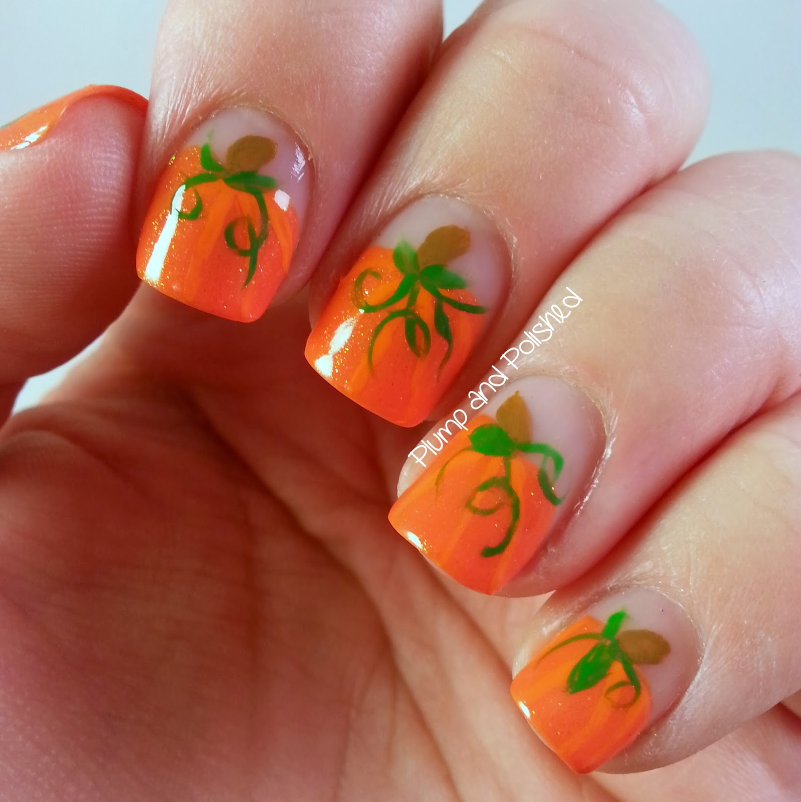 Plump and polished falling for nail art great pumpkin falling for nail art great pumpkin prinsesfo Choice Image
