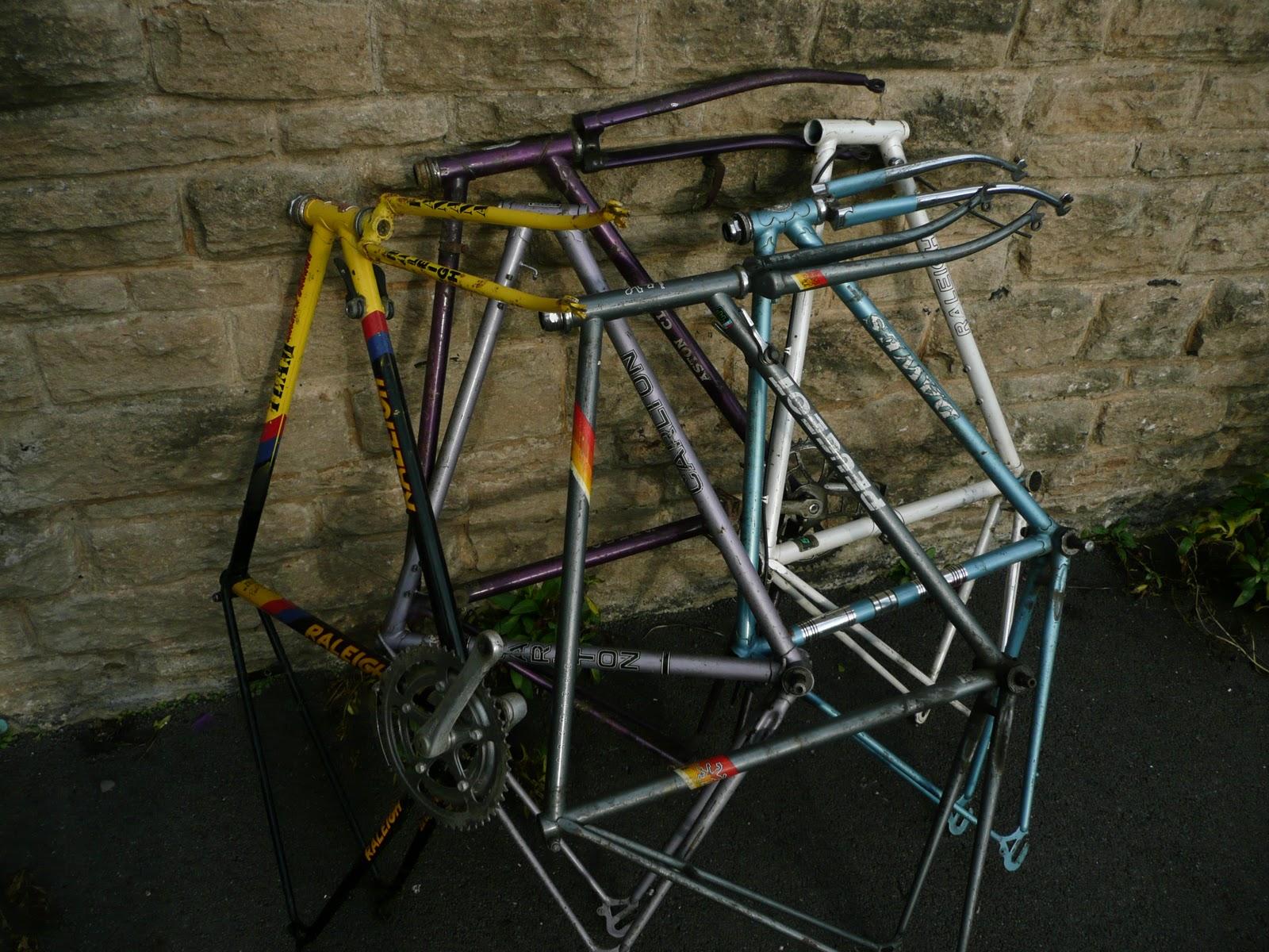 spindles sprockets a joblot of bike frames for sale on ebay