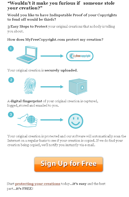 MYFREECOPYRIGHT - signup