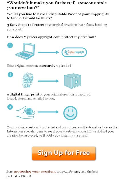MYFREECOPYRIGHT - signup