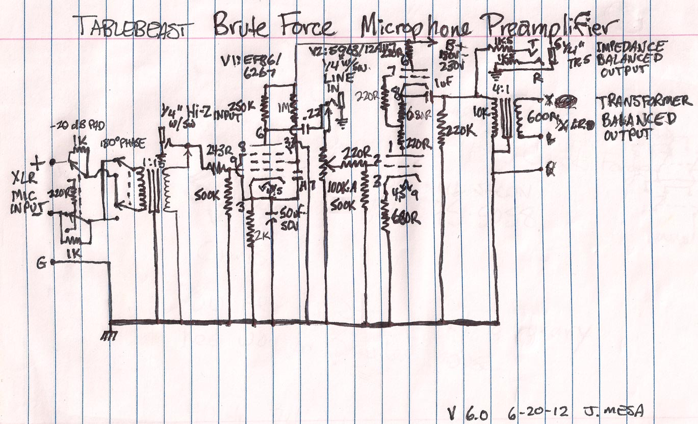 6av6 Tube Amp Schematics Diagram Xfmr Diy Projects June 1369x833