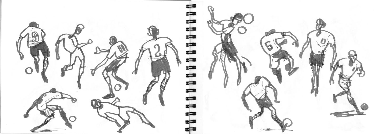 Football Doodles During Euro 2012 QF England - Italy