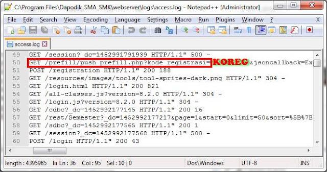 Lupa KOREG/Kode Registrasi  Dapodik, Ini Solusinya !