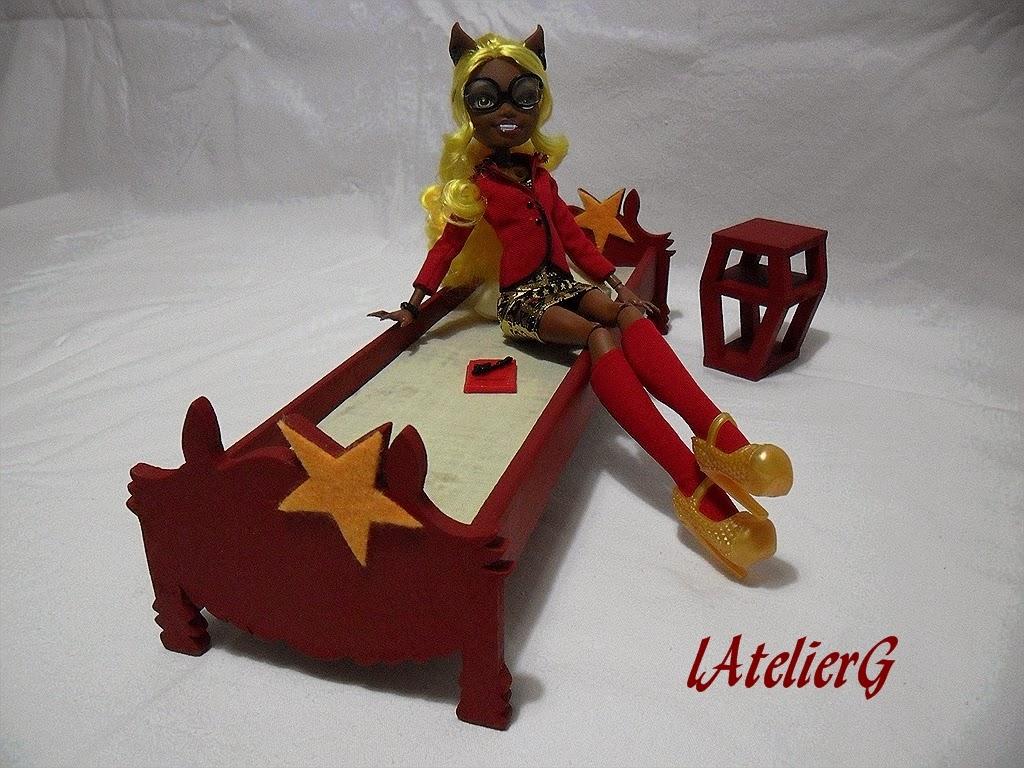 LAtelierG 30 Spcial Monster High Le Lit Pour Clawdia Wolf