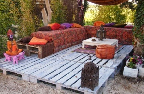 cmo decorar la terraza con palets - Terraza Con Palets