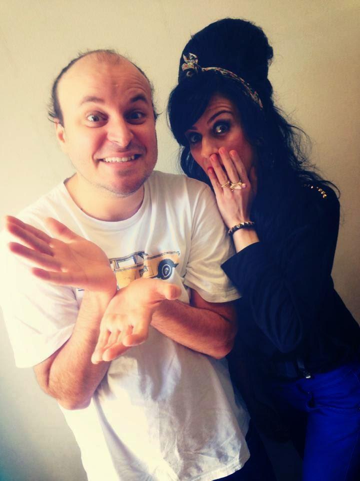 Sósia Amy Winehouse e Paulinho Serra