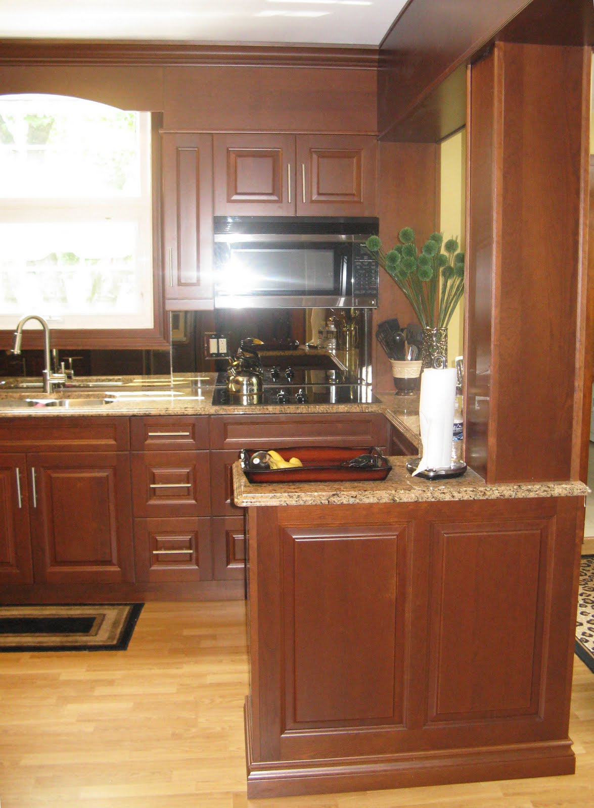 Matching Cherry Cabinets and Countertops