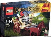 Lego the Lord of the Rings Box gandalf on chart with frodo baggins, gandalf na wozie hobbit bilbo baggins