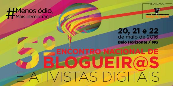 Inscrições abertas para 5º Encontro Nacional de Blogueiros e Ativistas Digitais