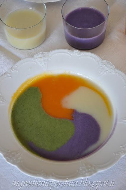 creme di verdure patate viola,