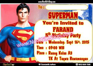 Undangan Superman Tahsin Kartu Undangan Ulang Tahun Anak (Invitation Card)