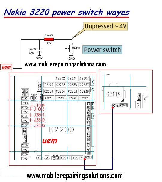 Nokia 3220 Power Switch Ways / Power Button Jumpers / Power Switch Problem -