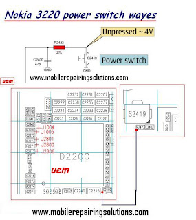 Nokia 3220 Power Switch Ways / Power Button Jumpers / Power Switch Problem - Solutions