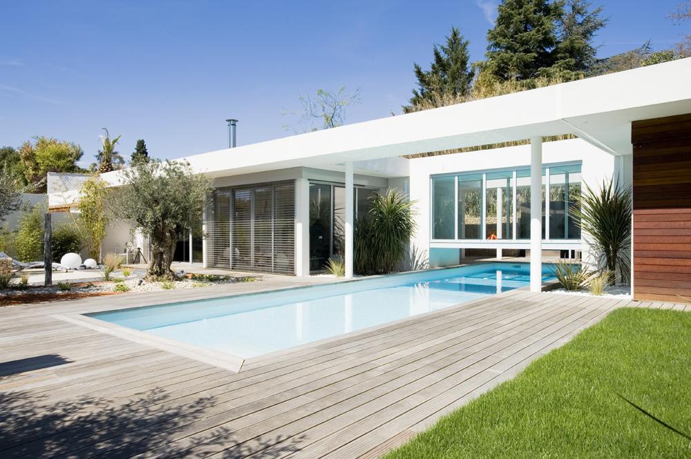 la maison et la passerelle coo architectes. Black Bedroom Furniture Sets. Home Design Ideas