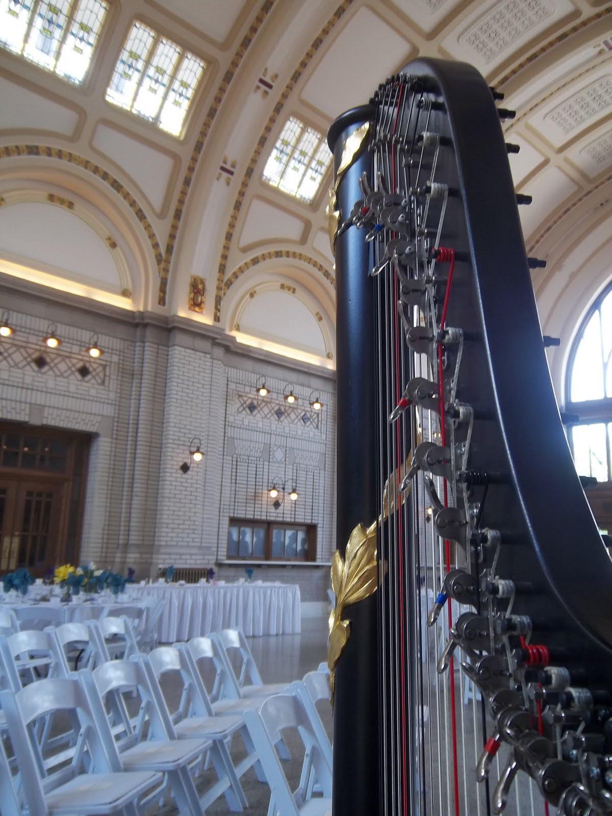 Wedding Harpist In Fort Wayne Baker Street Station Ceremony The