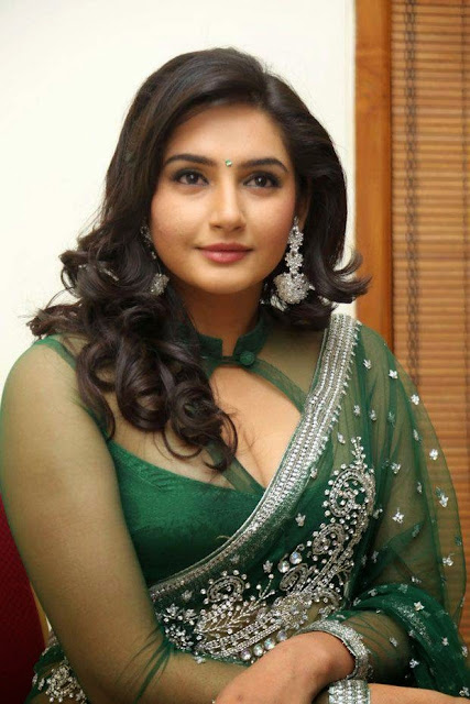 Actress Ragini Latest Stills in Green Saree