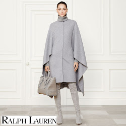 Mary's Style: Valentino Knee Boots and Prada Saffiano Tote Bag,Ralph Lauren Wool Cape (Fall 2014 Collection, Susanne Juul Felt Hat