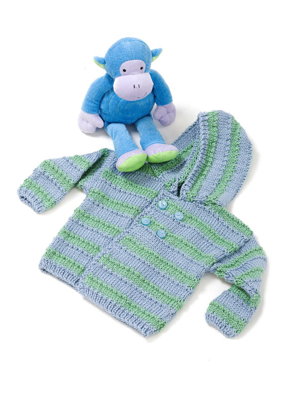 Knitting Pattern Baby Hoodie : Miss Julias Patterns: Free Patterns - 35 Baby Sweaters to Knit - Crochet