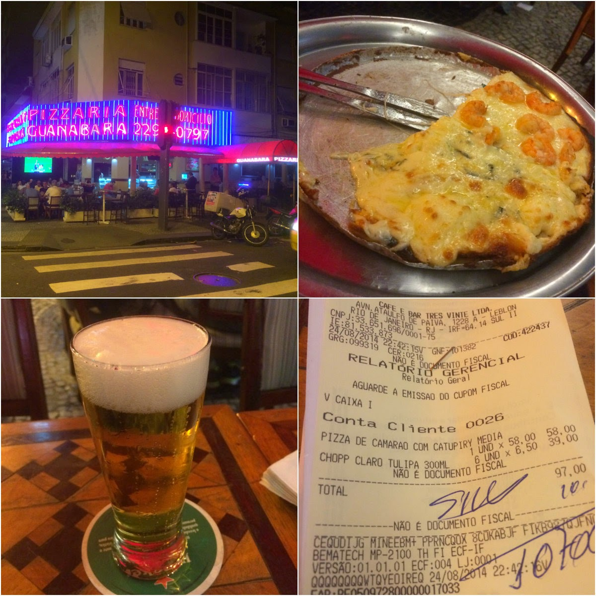 Rio de Janeiro, Cidade Maravilhosa, RJ, errejota, Leblon, pizza, Guanabara