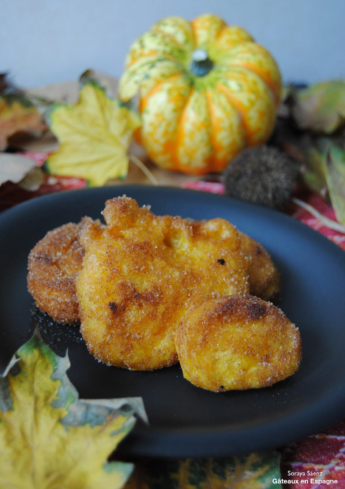 G teaux en espagne beignets de citrouille un dessert espagnol pour f ter la toussaint - Recette halloween facile ...