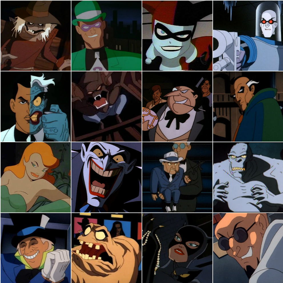 Batman The Animated Series Villain Roster