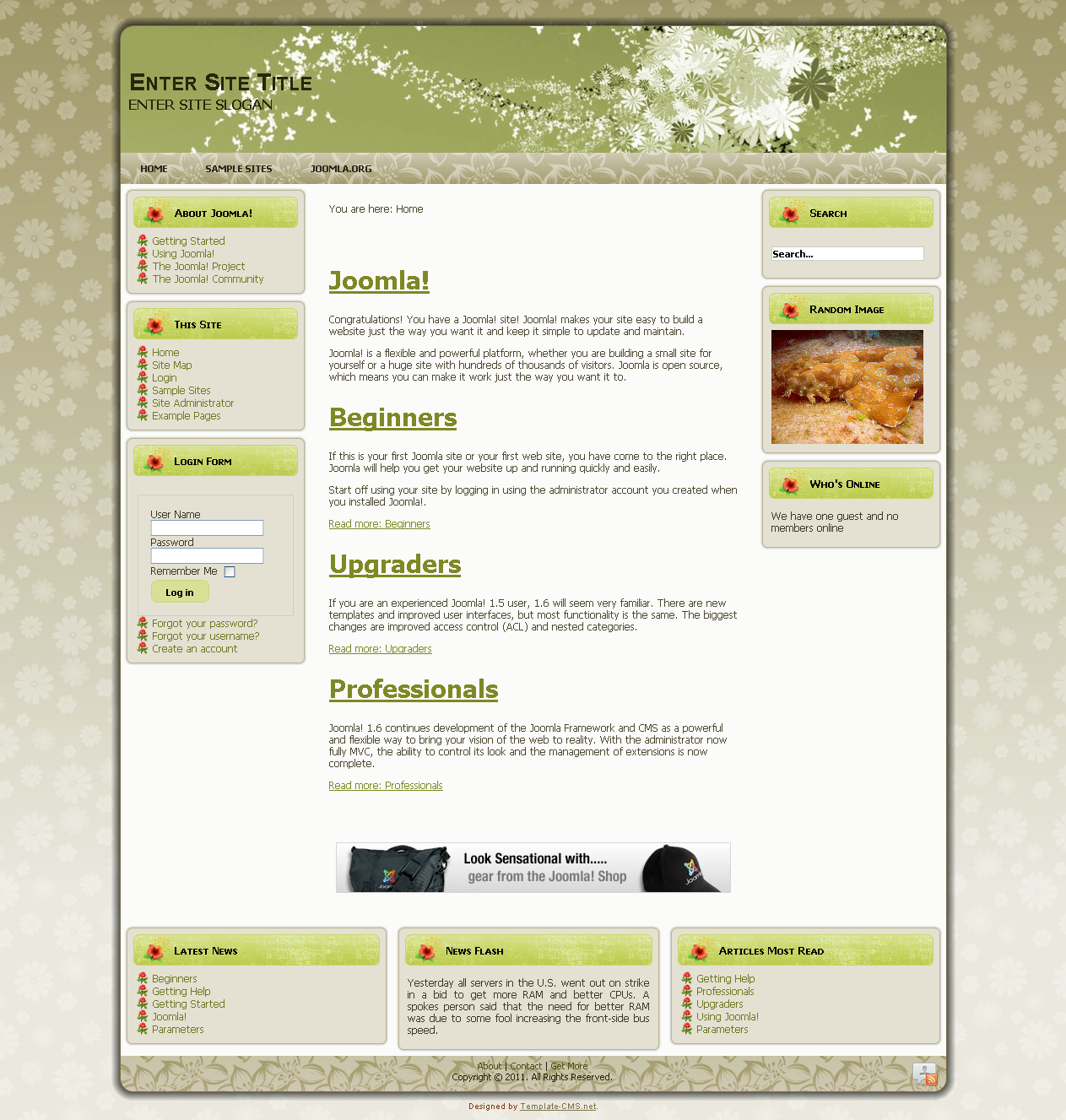 Template name flowers2 joomla templates gt download templates