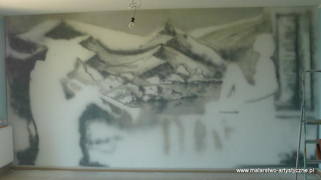 Malowanie pokoju młodzieżowego, Warszawa, pokój muzyczny