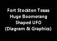 Fort Stockton Texas A Huge Boomerang Shaped UFO (Diagram And Graphics)