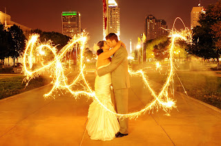 ViP Wedding Sparkler Writing